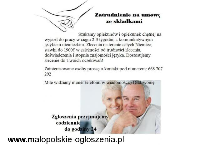 Niemcy - Od Zaraz Opiekun(ka) Seniora Do 1900€ -wybór Zleceń !