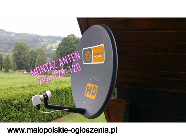 limanowa 24H SERWIS MONTAŻ ANTEN SATELITARNYCH CYFROWYCH NAZIEMNYCH DVB-T