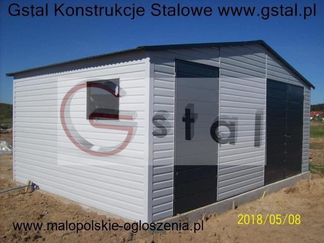 garaż blaszany 6x6 4x6 9x6 akryl grafitowy brązowy poziom wzmocniony brama