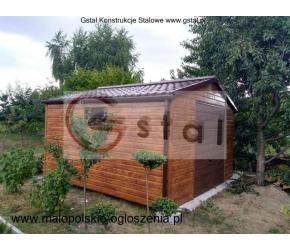 garaż drewnopodobny 4x6 wzmocniony profil akryl hala wiata blaszak premium